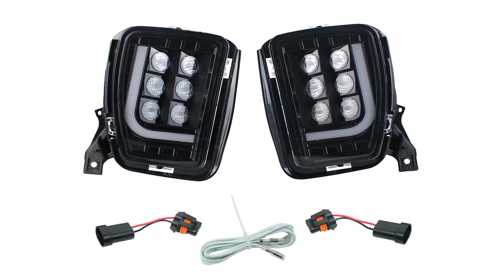 Sostituzione del gruppo di fendinebbia a LED per DODGE RAM 1500 Pickup 2013-2017 con luci di marcia diurna