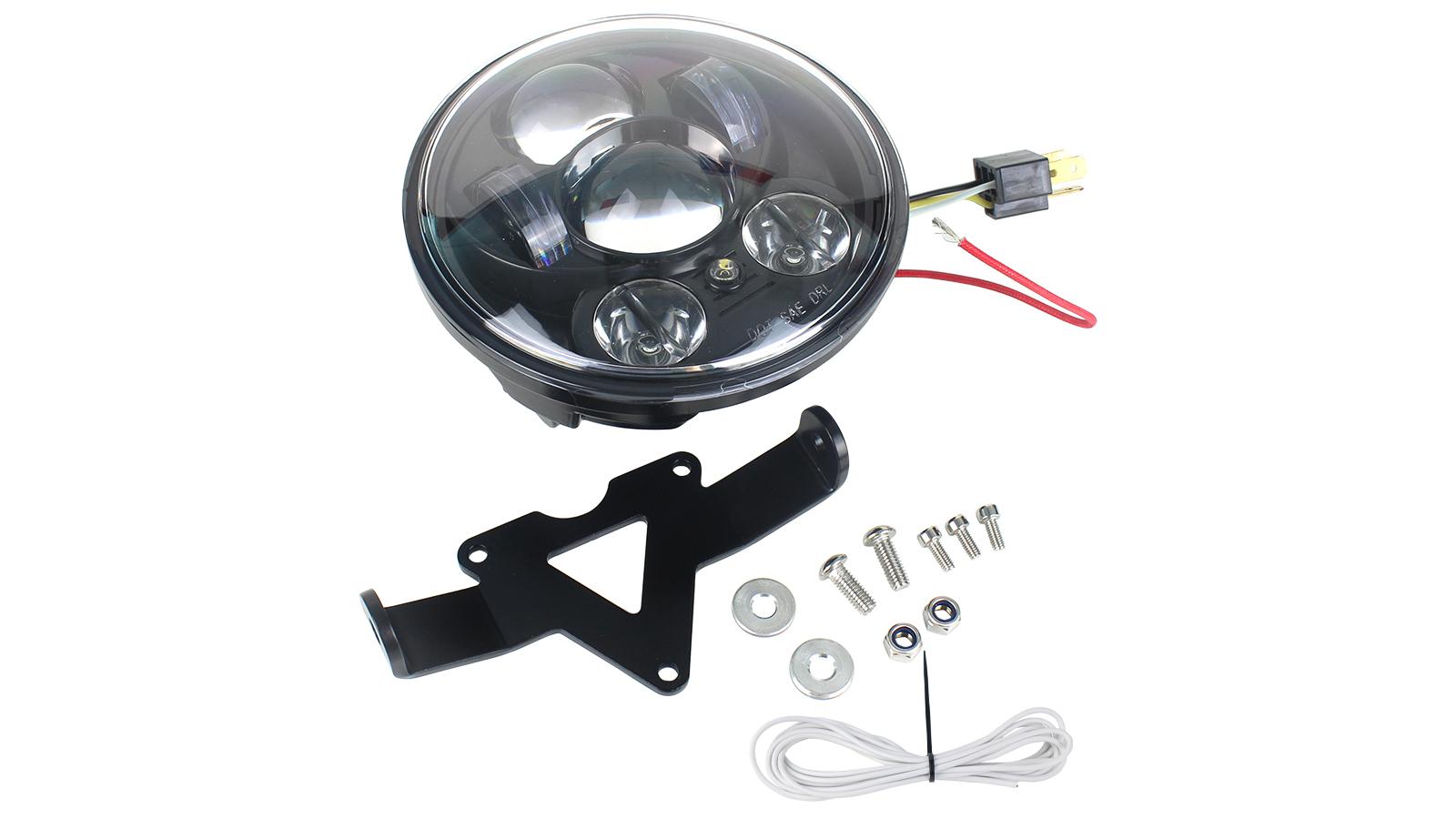 5.75 '' LED Faro principale Light Kit Staffa Compatibile per Yamaha XVS650 personalizzato XSR900 XSR700 XVS950 Bullone Raider
