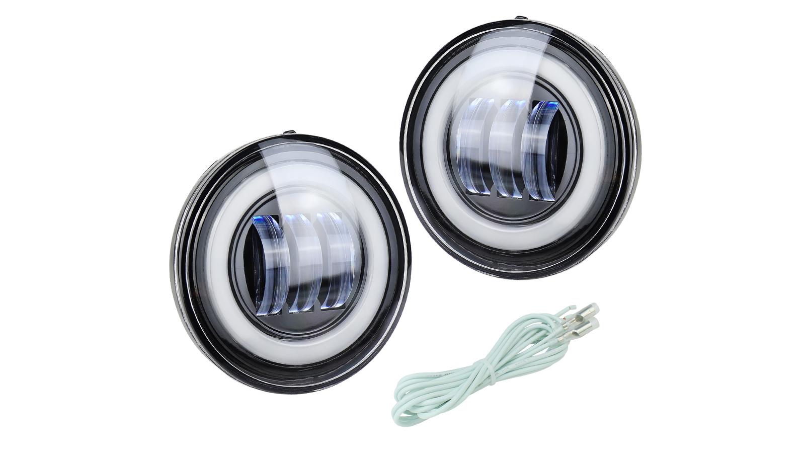 زوج من أجل شيفروليه سيلفرادو 2500 HD / 3500 HD 2015-2019 LED أضواء الضباب DRL Halo مصابيح