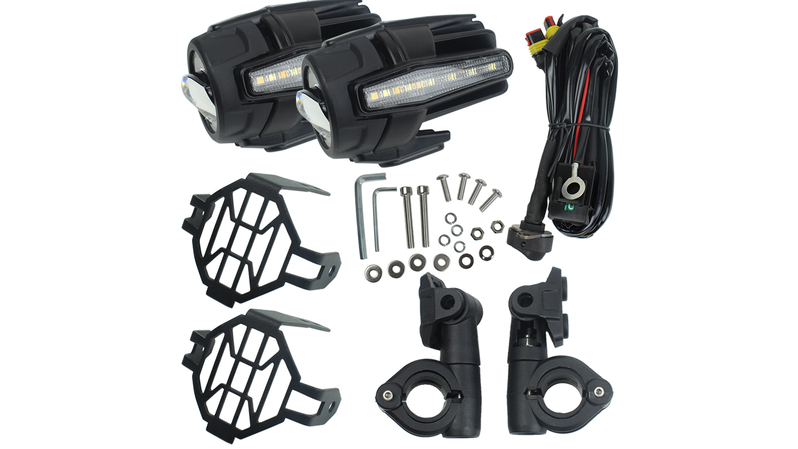 Auxiliary Lights for BMW Motorcycle 40W 6000K Spot Driving Fog Lamps For BMW R1200GS F800GS F700GS F650 K1600