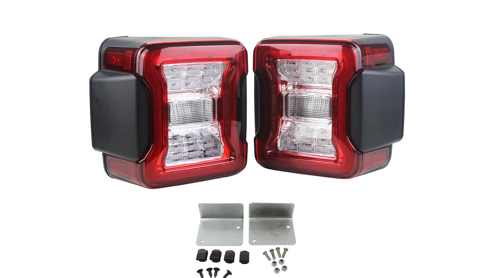 Luce posteriore Red Red LED dell'UE per il 2018-2019 Jeep Wrangler JL Break Reverse Signals