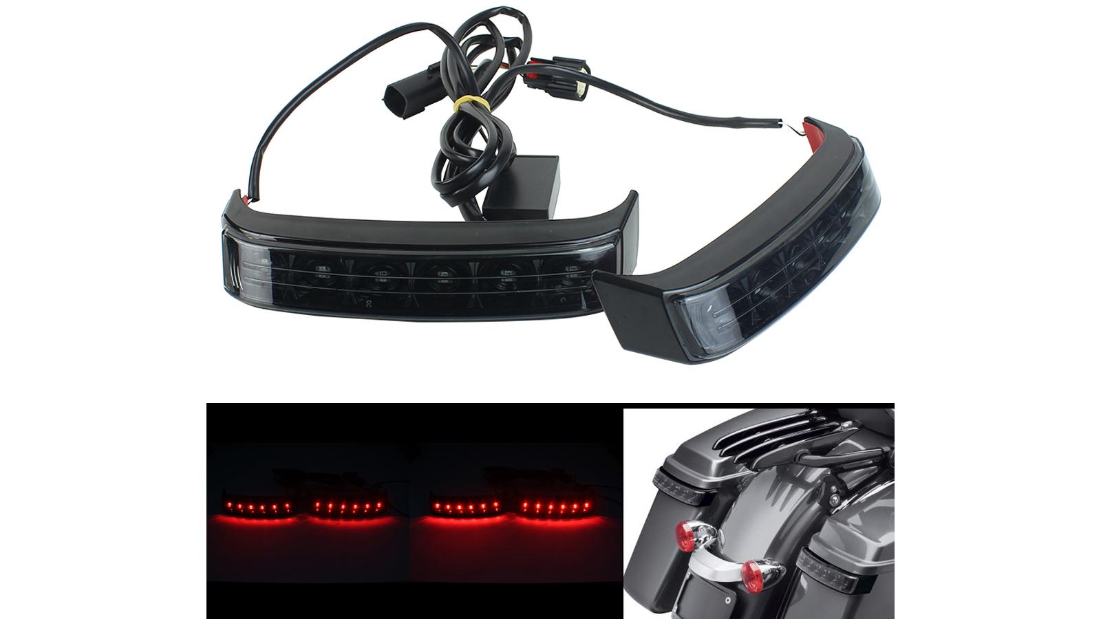 Saddlebag تشغيل الفرامل الصمام بدوره أضواء ل هارلي سيفو الكترا الطريق الإنزلاق 2014-2020