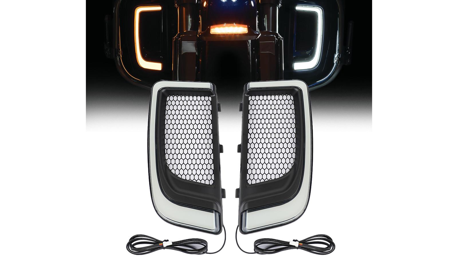 LED الجري ضوء بدوره إشارة هدية الشوايات السفلى ل هارلي ديفيدسون إلكترا شارع الطريق الإنزلاق 2014-2020 دراجة نارية
