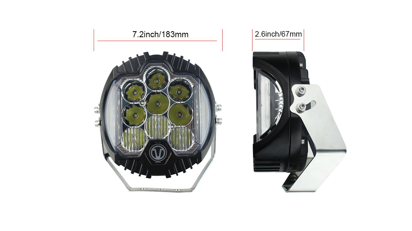 7 inch 90W LED作業灯LEDの車SUVトラック用のスポットライト駆動ライト