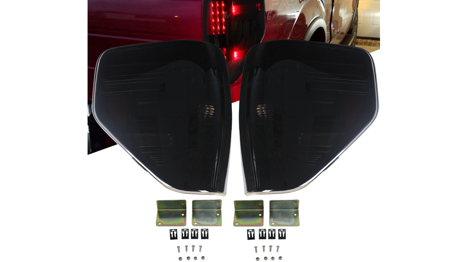 Best Quality Rear LED Tail Light Brake Lamp Taillight Replacement for Ford F150 Pickup 2009-2014 Factory