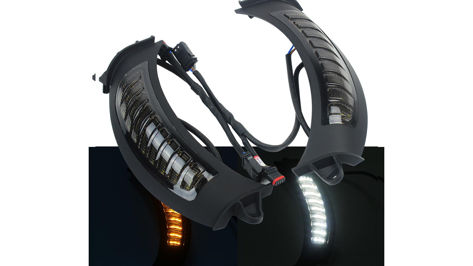 أفضل أدى بدوره إشارة أضواء W / DRL لعام 2015-2020 الطريق الإنزلاق دراجة نارية مصباح جانبي
