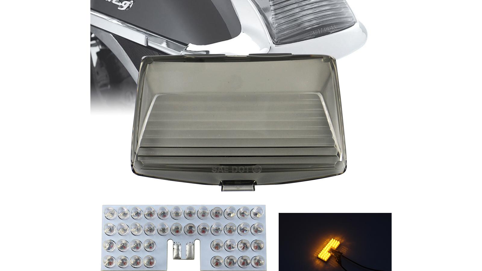 الاحترافية الجبهة LED درابزين تلميح ضوء ث / عدسة الدخان غطاء ل هارلي إلكترا الإنزلاق التراث سمينة المصنعين
