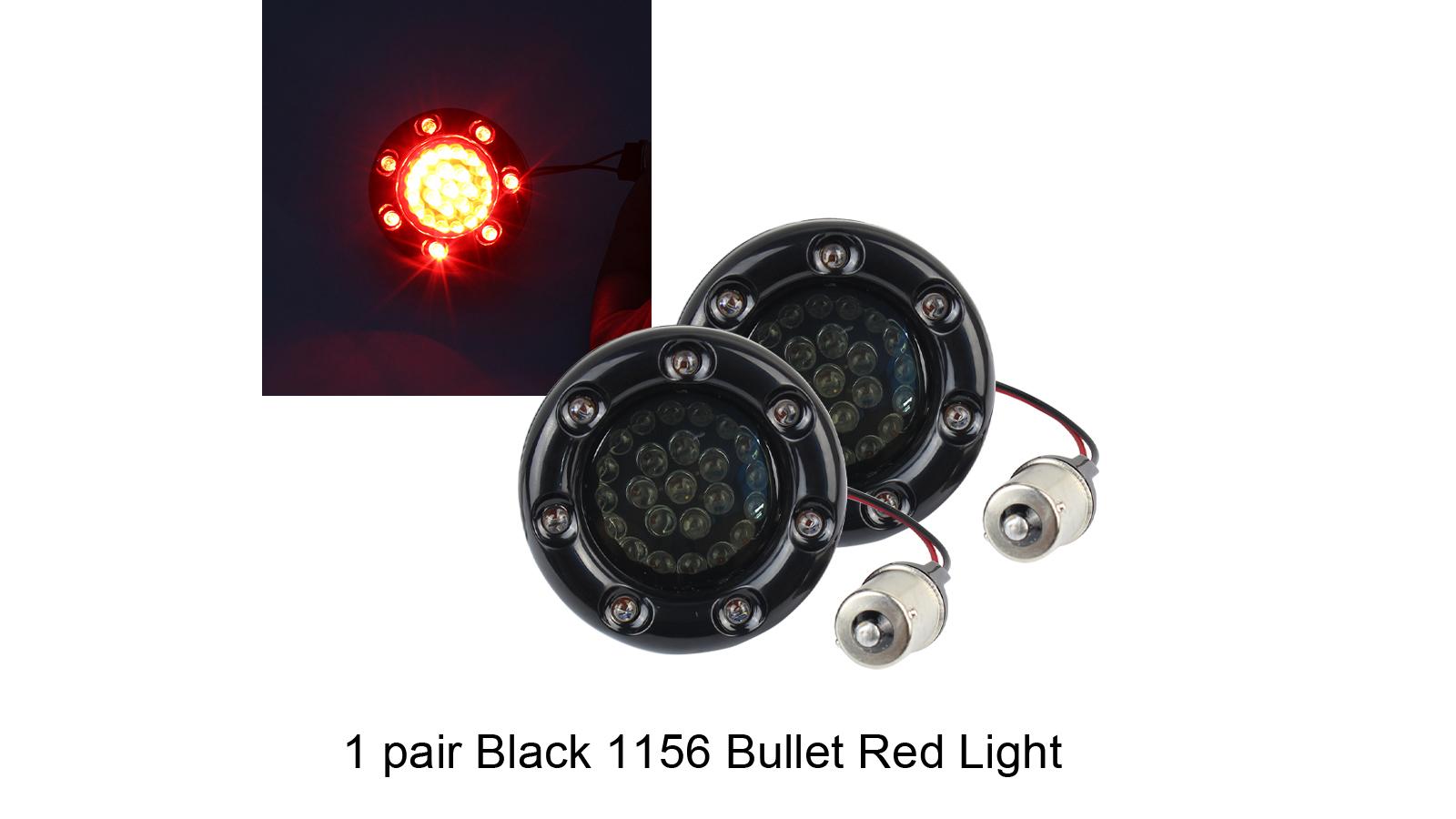 أحمر 1156 أدى النار الدائري بدوره إشارة ضوء لدراجة نارية داينا softail سبورتر flhx بدوره إشارات إدراج الأسود