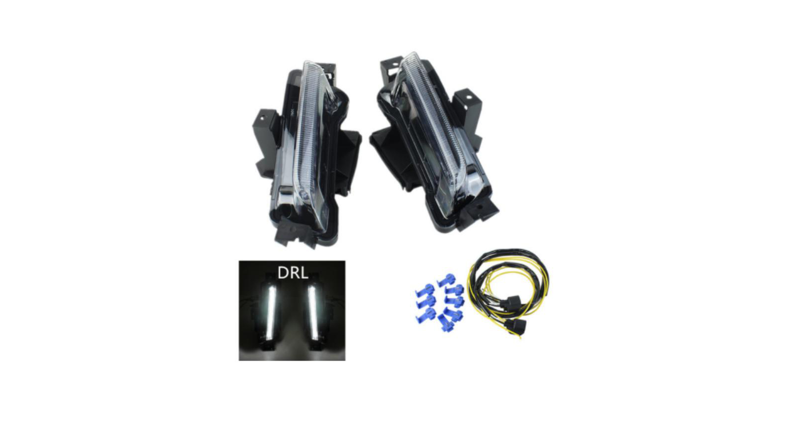 Best Quality White DRL Fog Lights No Turn Signal Function For Chevy Camaro ZL1 1LT RS 2016+ Factory