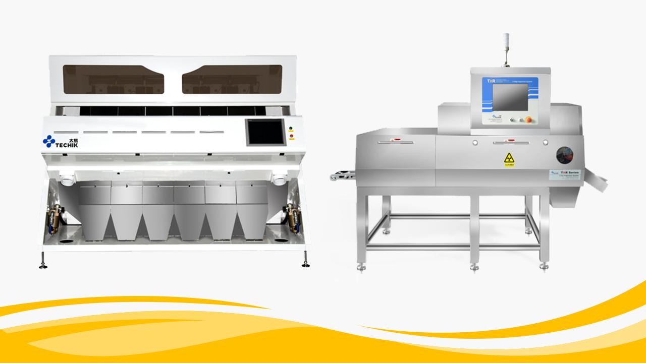 Цвят сортиране и рентгенова инспекция интелигентна производствена линия за тиквени семена