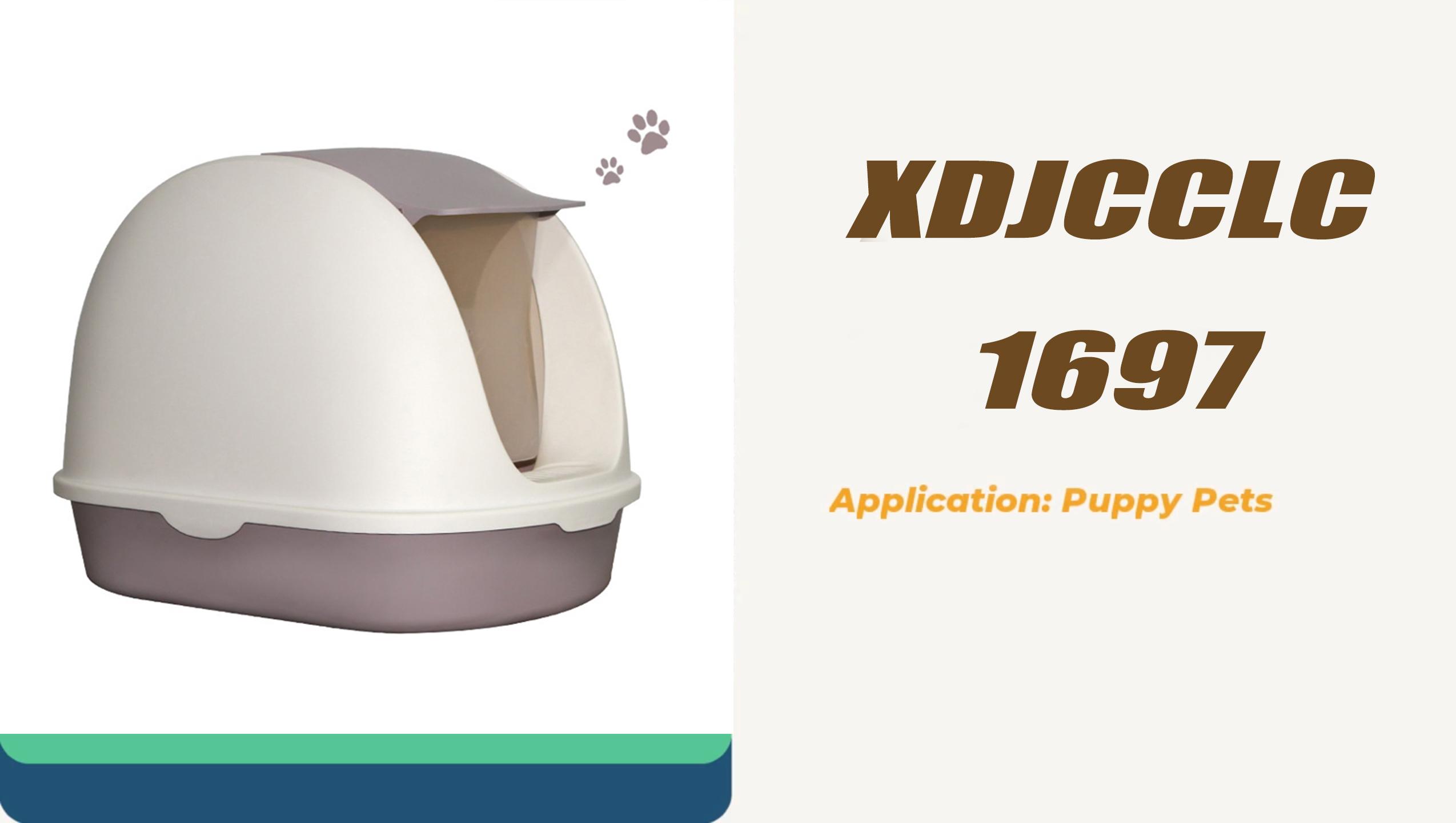 Portable Flip Design Thicken Fully Enclosed Pet Cat Sand Litter Basin Box Toilet