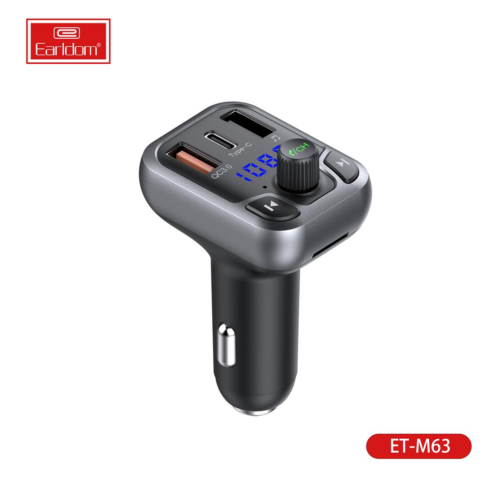 ที่ดีที่สุด Earldom FM T Ransmitter บลูทู ธ 5.0 แฮนด์ฟรีชุดอุปกรณ์ติดรถยนต์เครื่องเล่น MP3 พร้อม PPS QC3.0 QC4.0 5A ชาร์จที่รวดเร็วอัตโนมัติ FM Modulator ผู้ผลิต