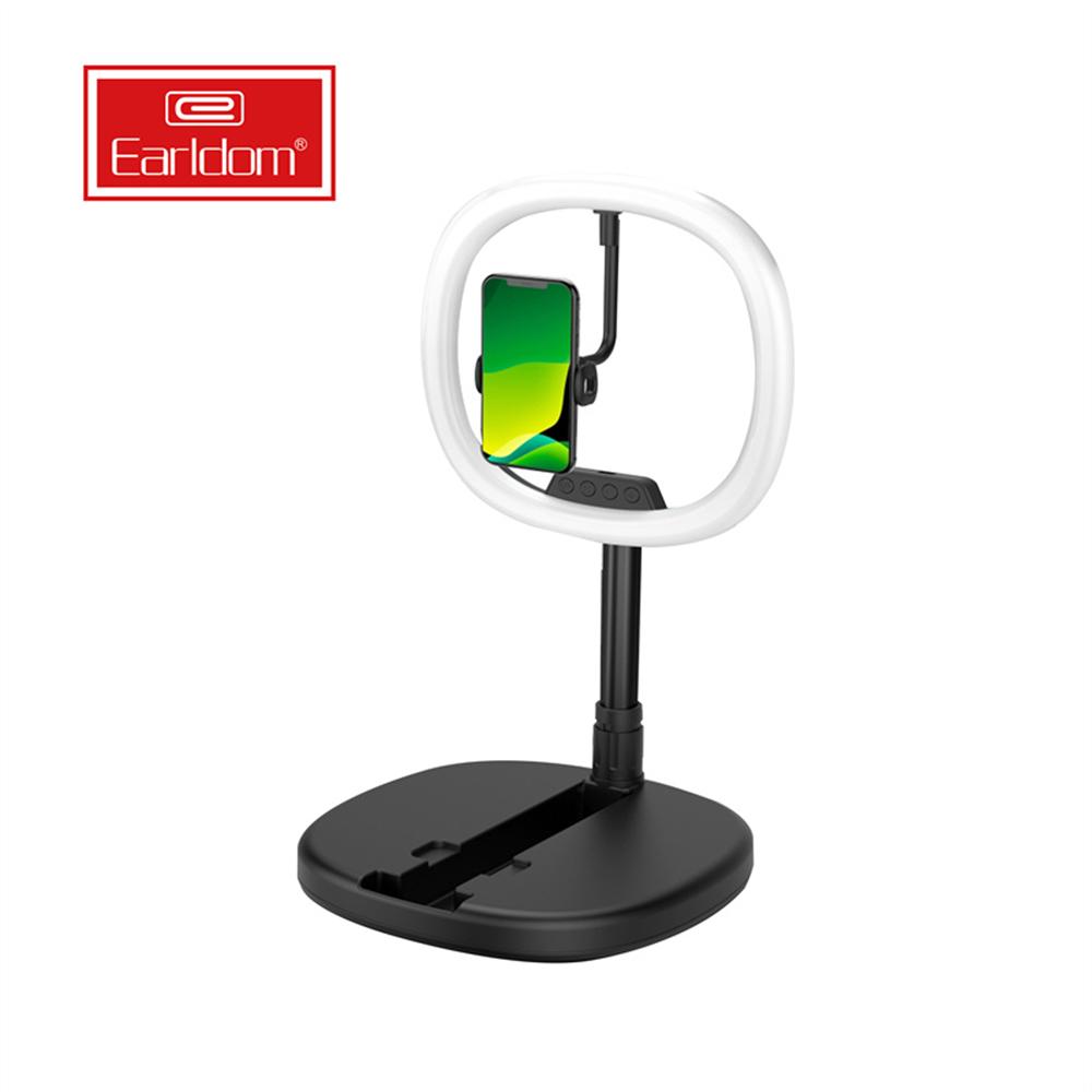 EARLDOM EH103 Selfie Yüzük Işık, 10 inç 14 inç 18 inç Telefon Selfie LED Daire Büyük Selfie Halka Işık ile Tripod Standı