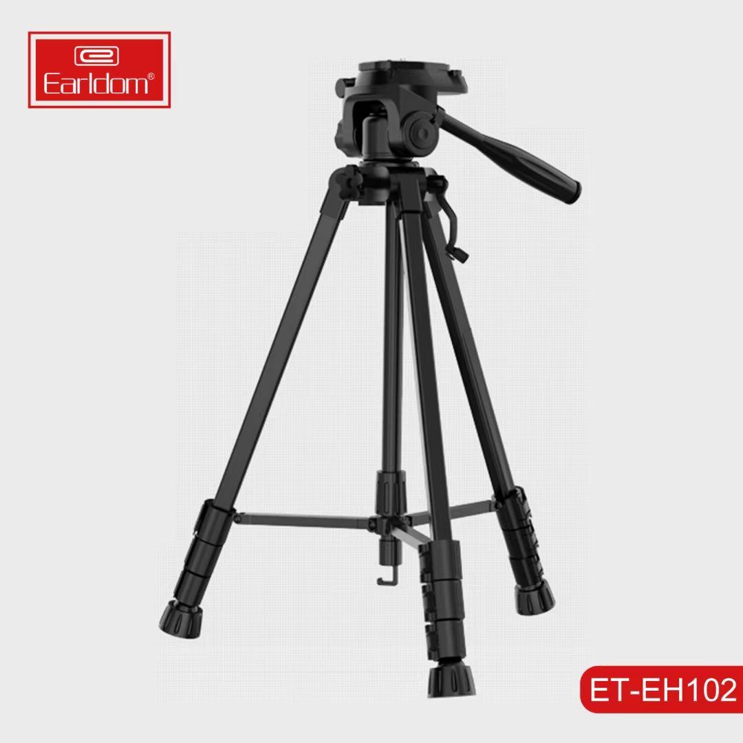 Kamera earldom tripod travel monopod (aluminium profesional kamera video mount leg) berdiri disesuaikan dengan kepala fleksibel