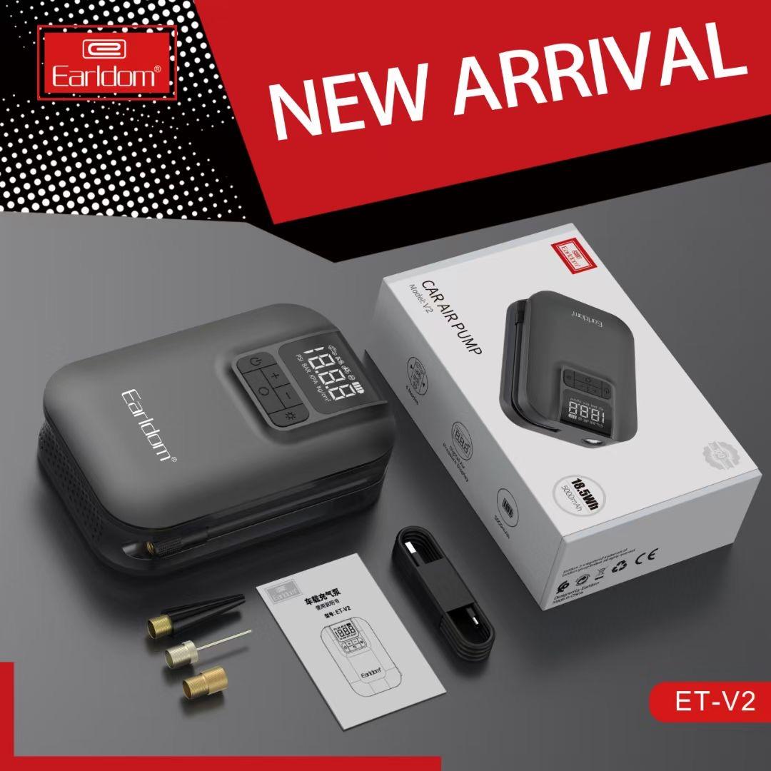 Earldom v2 sıcak satış mini otomatik araba lastik hava kompresörü pompa şişirme araba hava pompası şirketi
