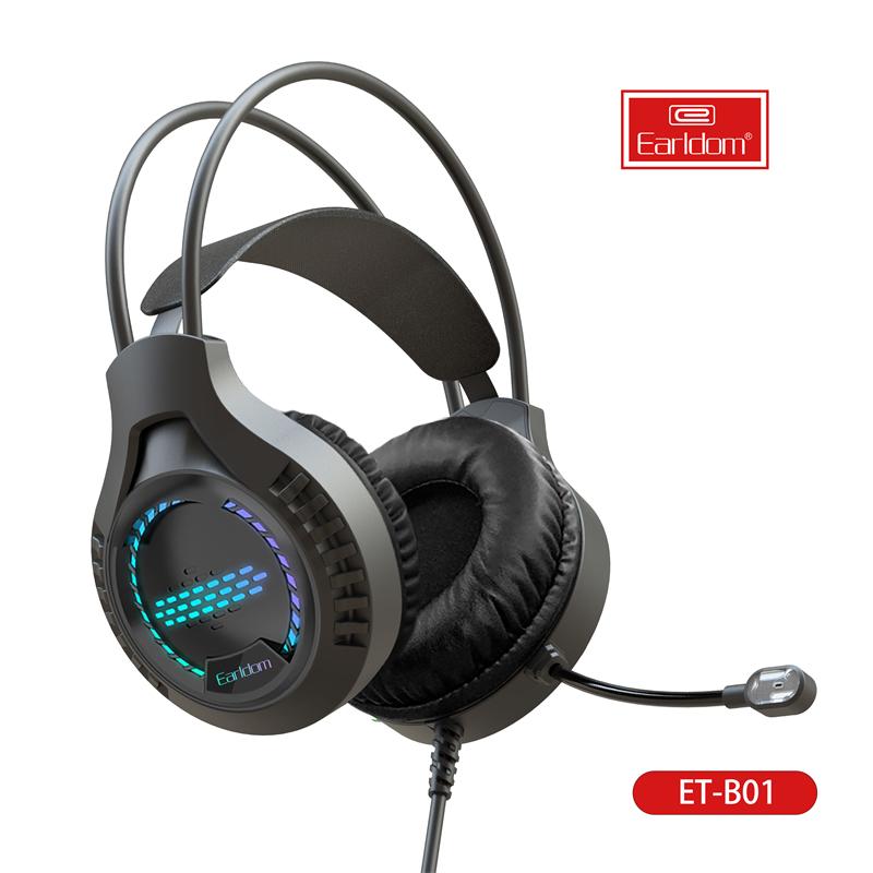 Tai nghe chơi game có dây USB Micrô và tai nghe chơi game RGB Light Stereo Tai nghe âm thanh cho PS4 PC Gamer Headphones