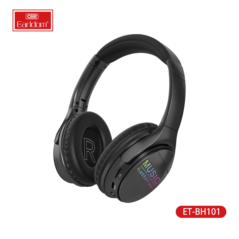 Tai nghe khử tiếng ồn không dây của Esldom cho tai nghe du lịch thời gian âm nhạc và tai nghe headband máy tính