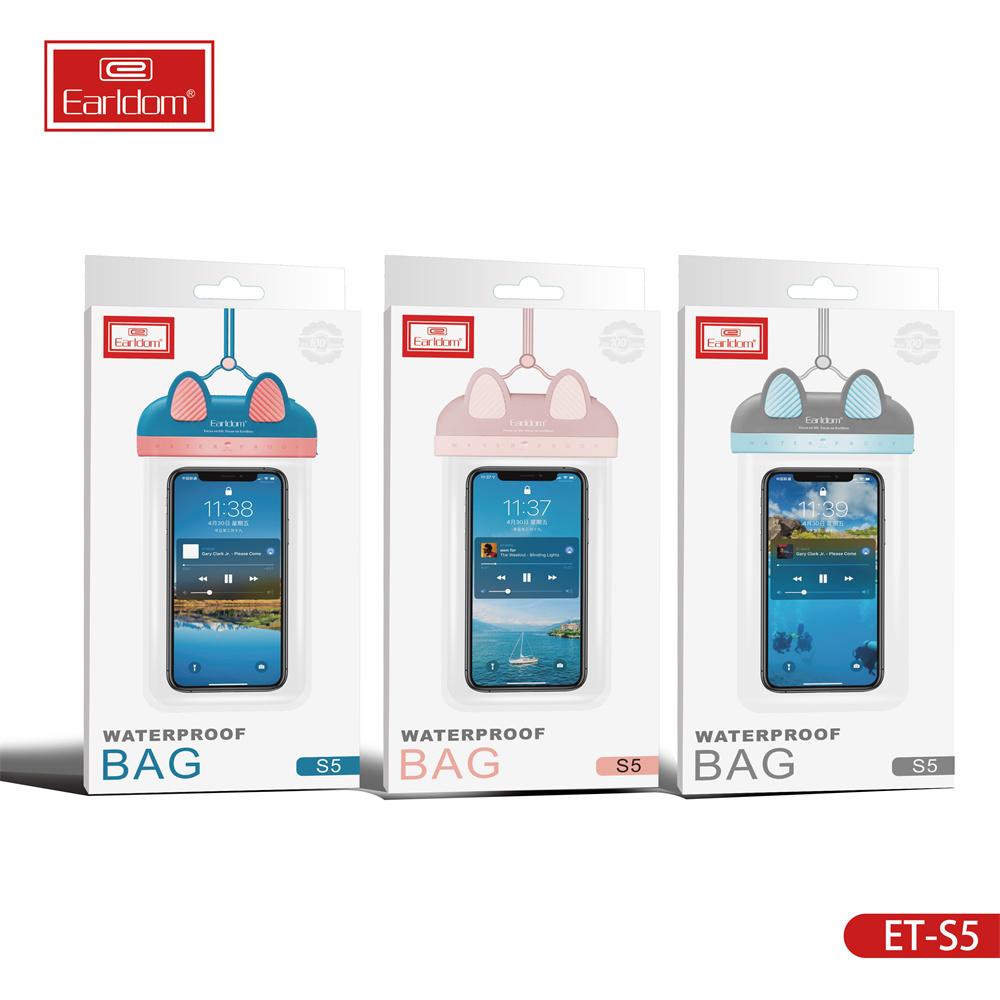 Earldom Cep Telefonu Cep Telefonu Dokunmatik Ekran Çanta Yüzme Telefon Kılıfları TPU Su Geçirmez Çanta Kızlar M