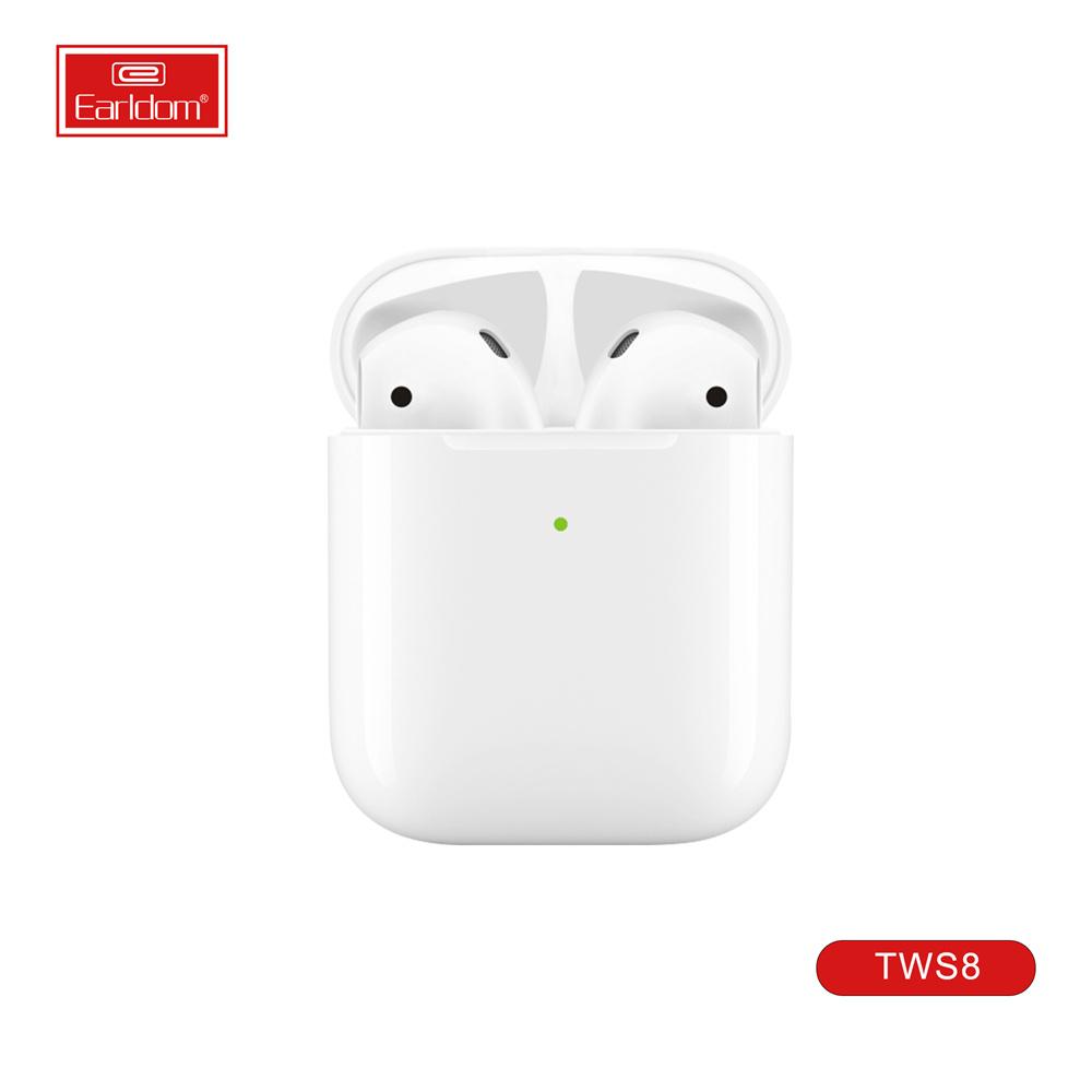 سماعات رأس لاسلكية حقيقية، ماء سماعات بلوتوث 5.0 لاسلكية مع ميكروفون شحن القضية سماعات TWS في الأذن