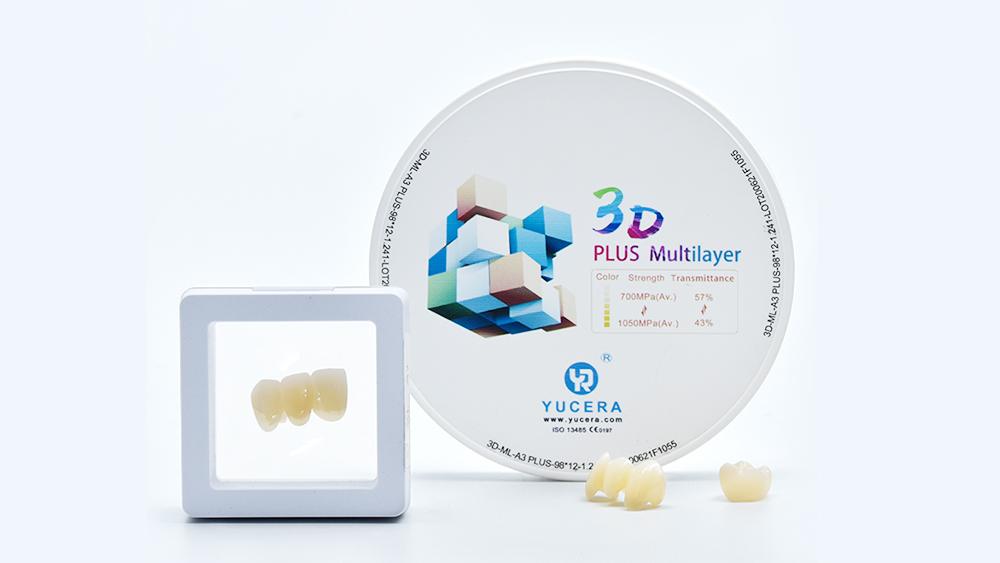 Yucera UT Multilayer dental zirconia block lab and laboratory used for dental materials dentistry dentist equipment ceramic