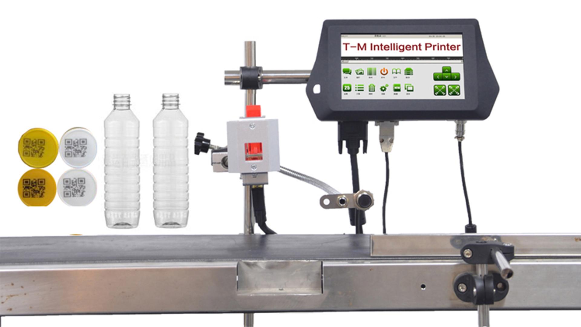 Impresora en línea profesional de la pantalla táctil de 7 pulgadas para la impresión de la fecha de caducidad del cuadro de papel Fabricantes